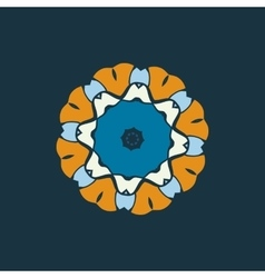 Blue and brown color mandala ornamentdecorative vector