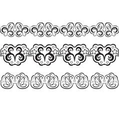Border Black seamless pattern vector