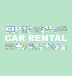 car rental word concepts banner vector image
