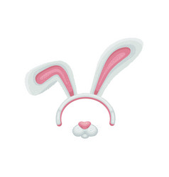 cartoon easter bunny or rabbit ears and mouth vector image