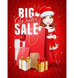 Christmas sale vector image