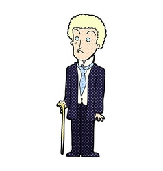 Comic cartoon unhappy gentleman vector