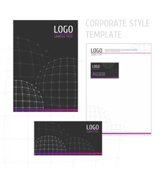 Corporate style template grid circle vector image