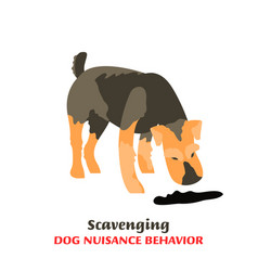 Dog behavior problems icon vector