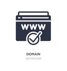 Domain registration icon on white background vector