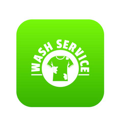 Dry cleaning icon green vector