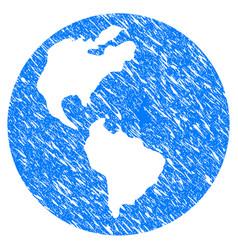 earth grunge icon vector image