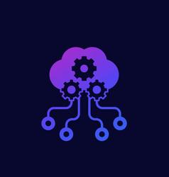 Edge computing icon for web art vector