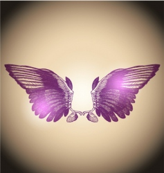 engraved wings vector image