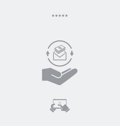 envelope containing dollars - minimal modern flat vector image