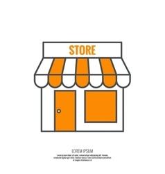 Facade of shops supermarkets marketplace vector image