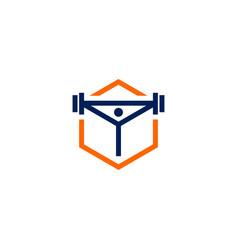 fitness box logo icon vector image