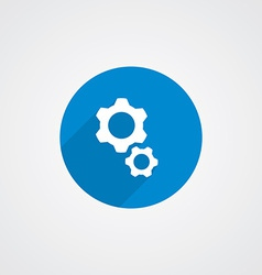 Flat Blue Settings Icon vector image