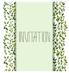 foliar frame design for greeting card vector image