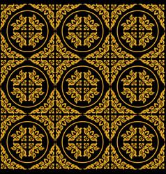 Golden thai pattern seamless art vector