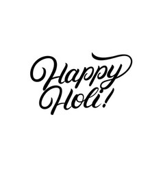 Happy holi hand written lettering vector
