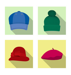 Headgear and cap icon vector