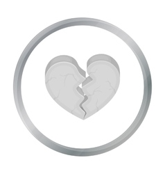 Heart icon in cartoon style isolated on white vector