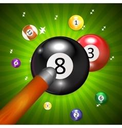 Ivories Billiard Balls Background vector image
