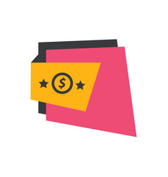 Label design star pink yellow black vector