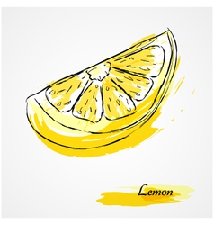 lemon fruit vector image