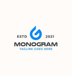 letter g drop water monogram logo template vector image