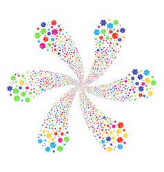 Life star centrifugal flower cluster vector