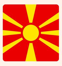 Macedonia square flag button social media vector