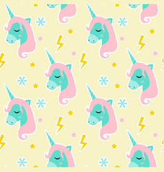 magic unicorn seamless pattern modern fairytale vector image