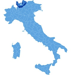 Map of Italy Sondrio vector