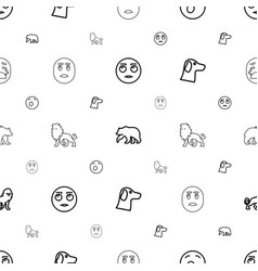 Mascot icons pattern seamless white background vector