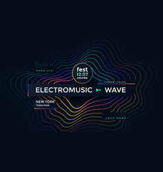 music wave poster design electronic sound vector image