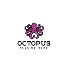 octopus logo design vector image