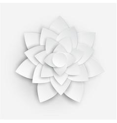 paper flower 3d flower paper flower pastel vector image