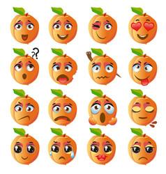 Peach emoji emoticon expression vector