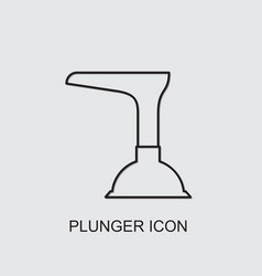 Plunger icon vector