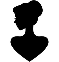 portrait of a beautiful young woman in profile vector image