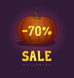 pumpkin with a 70 percent discount vector image