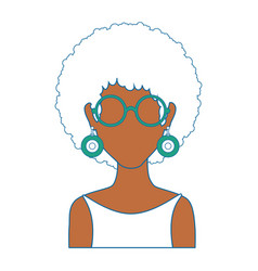 retro woman icon vector image