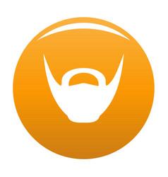 Round beard icon orange vector