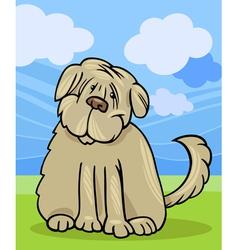 shaggy terrier dog cartoon vector image