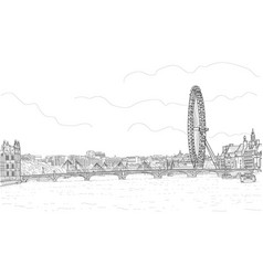Sketch of the panorama of london vector