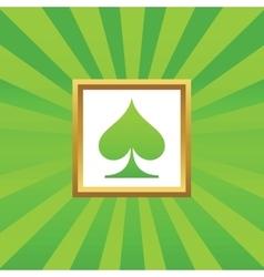 Spades picture icon vector