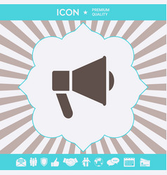 Speaker bullhorn icon graphic elements for your vector