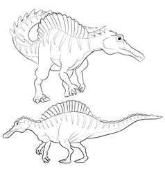 Spinosaurus lineart vector