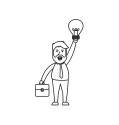 Successful businessman cartoon vector