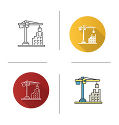 tower crane icon vector image