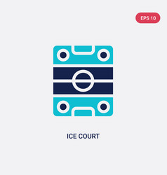Two color ice court icon from hockey concept vector
