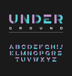 Underground decorative bold typeface vector