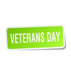 Veterans day square sticker on white vector